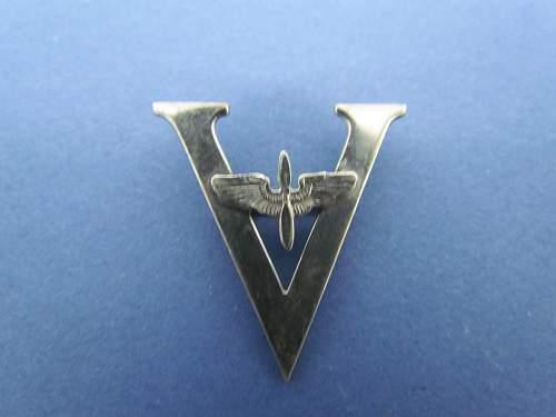 "U.S. Sterling ""V"" Pin ID help"