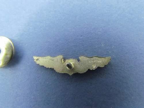 Tiny Screwback U.S. Wings pin Sterling