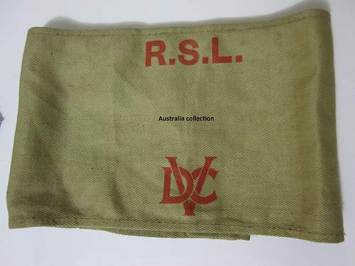 VDC Volunteer Defence Corps armband