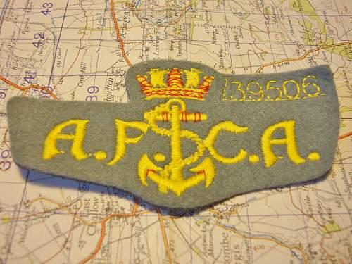 AFCA Merchant  Navy Badge