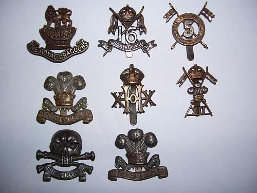 Cavalry britanique/ Britsh Cavalry cap badges