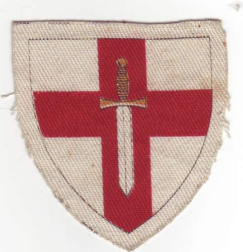 British 1st army formation patch