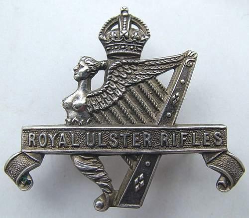 Royal Ulster Rifles 1st glider Battalion cap badge