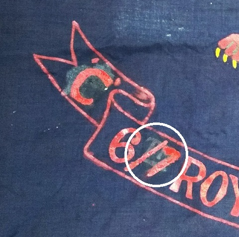6/7th Bn RWF flag and associated items