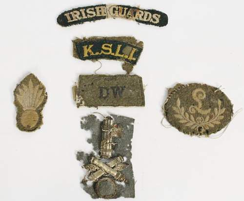 Knackered old cloth badges - Identification please!