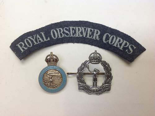 Royal Observer Corps  insignia