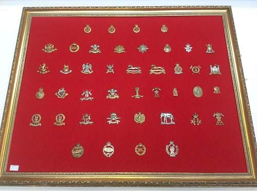Click image for larger version.  Name:Framed British cap badges 2.jpg Views:17 Size:216.3 KB ID:901964
