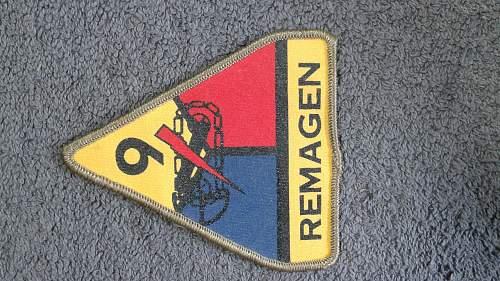 Ww2 remagen tank patch ??