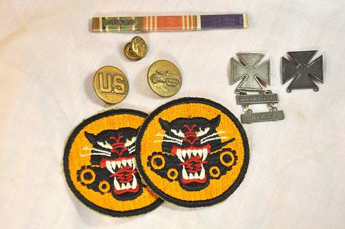 US Tank Destroyer insignia group