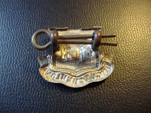 unknown collar badge - south african?