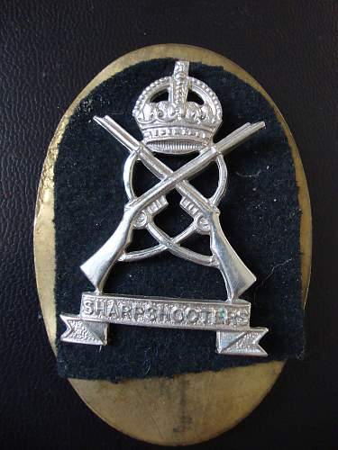Sharpshooters cap badge?