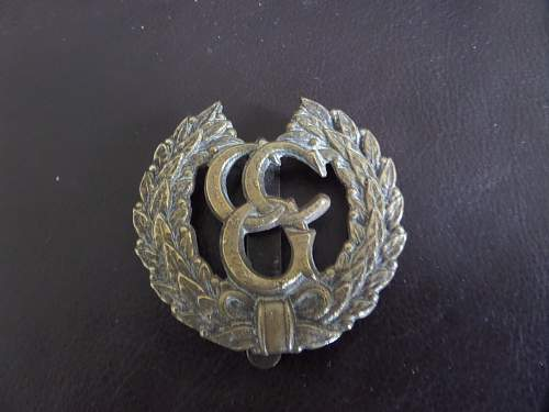British Control Commission Germany cap badge