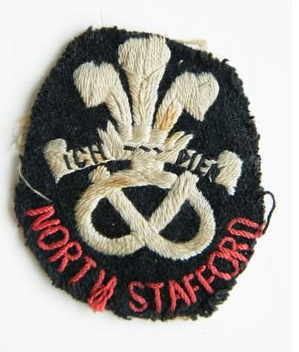 interwars north Staffs pagri flash