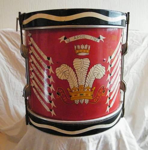 Click image for larger version.  Name:Welch regiment side drum 1.jpg Views:32 Size:227.0 KB ID:927744