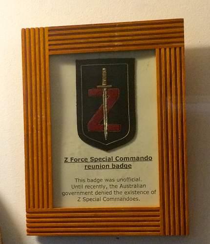 Australian Z Force special commando reunion patch