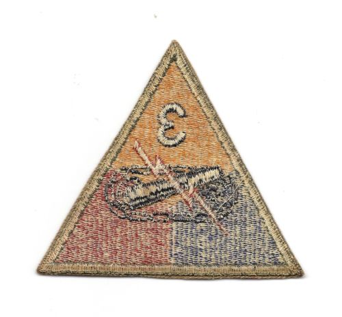 3rd armored division patch, authentic WW 2?