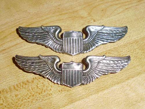 US WWII Aerial Gunner's Pin