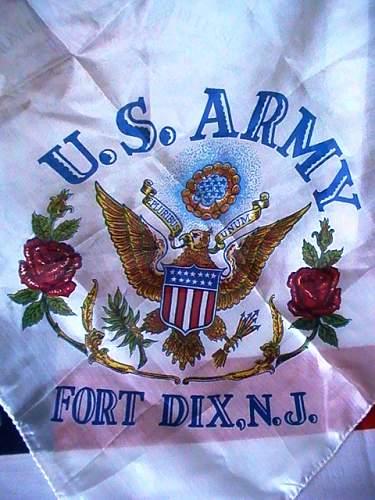 US army silk scarf