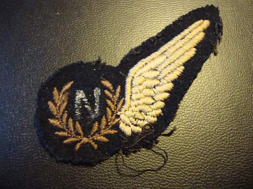 RAF bomb aimer brevet, adapted to navigator.