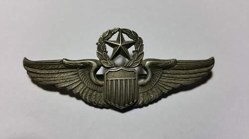 Command Pilot Wings