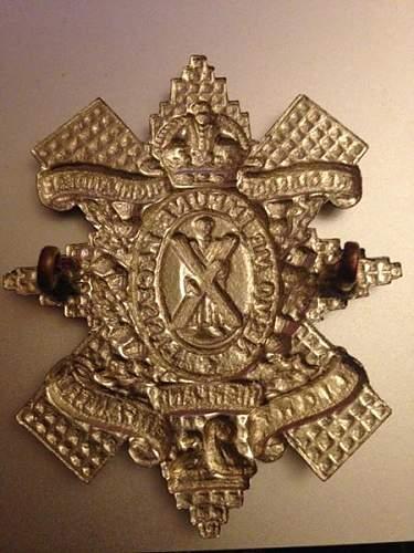 Glasgow Highlanders post-1939 cap badge