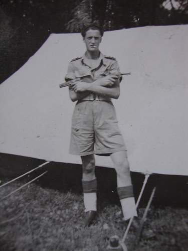 6th Armoured Division Italy 1946, but what is the cap badge?