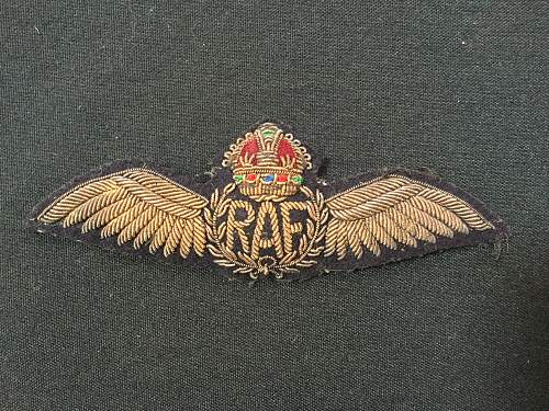RAF Pilots wing worn by a member of the Royal Navy