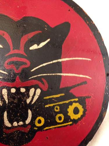 Hand Painted Tank Destroyer Sign/Plaque
