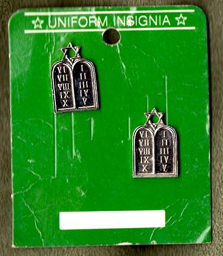 Collar Insignia-Jewish Chaplain