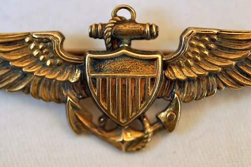 U.S. Navy Pilot Wings: LGB Mfg.