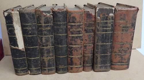 19th century Dutch artillery manuscript in 8 volumes