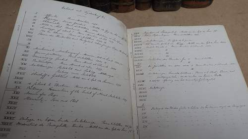 19th century Dutch artillery manuscript in 8 volumes