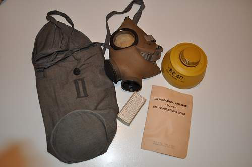Italian Gas Mask Mod. T35, and other patterns