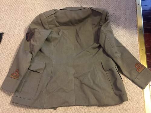 WWII Italian BLACK BRIGADE Milano uniform Italian SS patches