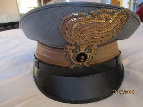 Bersaglieri officer's dress visor cap