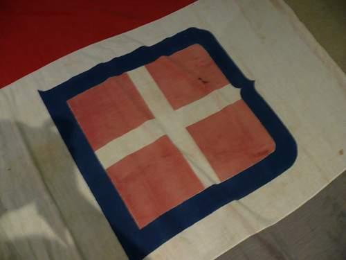 Italian Flag captured at Tobruk by Australians