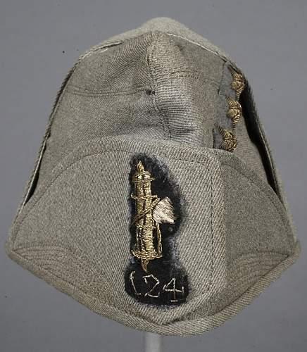 Italian Cap for a Army Captain,