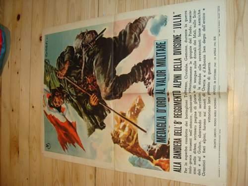 Italian propaganda Posters WW2