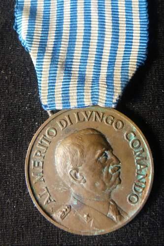 Italian NCO's Medal named
