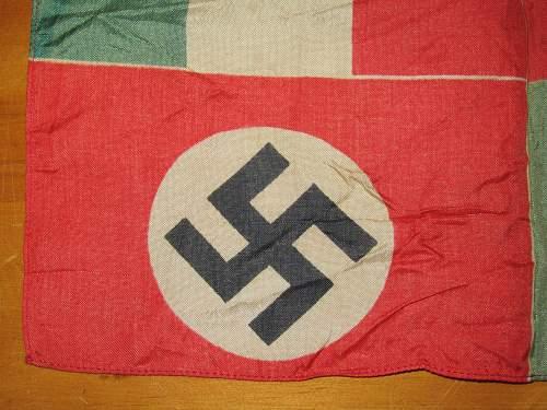 Italo-German Friendship/ Parade Flag and Italian Post Car
