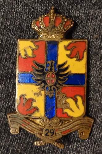 29th artillery insignia?