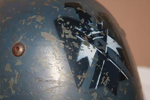 Stenciled Italian Helmet