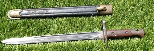Italian M1891/ TS Transverse Bayonet