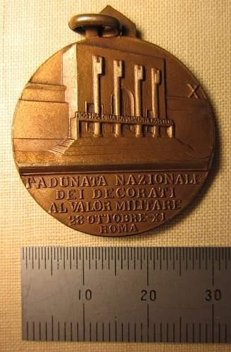 Two Medallions of the Mostra della Rivoluzione Fascista