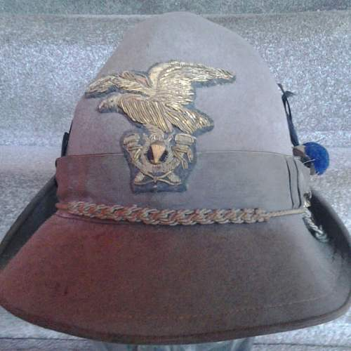 Italian Alpini officers cap