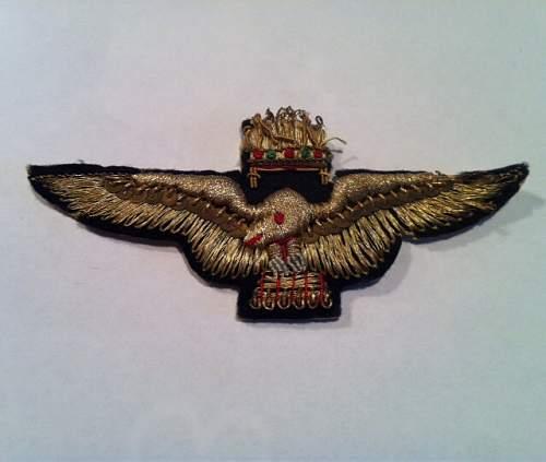 A Couple Italian bullion insignia