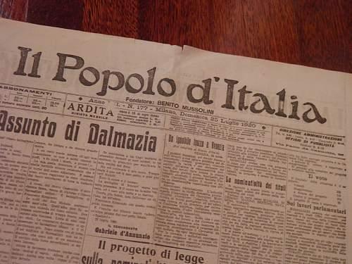 New addition: Il Popolo d'Italia