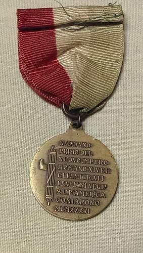 Italian Medal - Can't identify