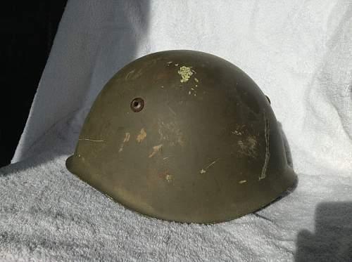 M33 helmet, WW2 or post war?