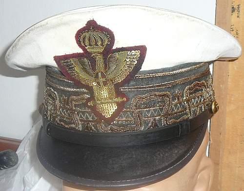 Italian generals summer peak cap opinions
